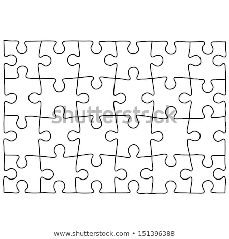 Puzzle template. Background for your business presentation. Stock photo © gladiolus