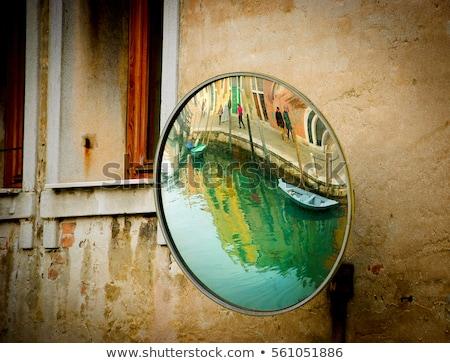 Muro de piedra espejo blanco negro vertical primavera reflexión Foto stock © ABBPhoto