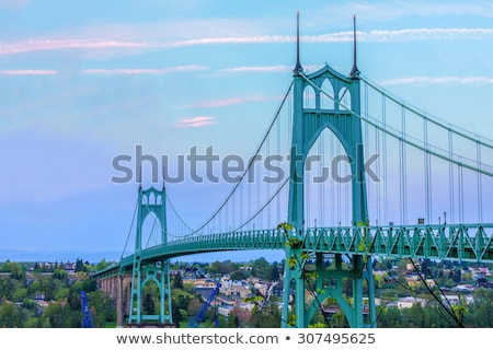 Steel Bridge Portland Oregon Stock photo © pictureguy