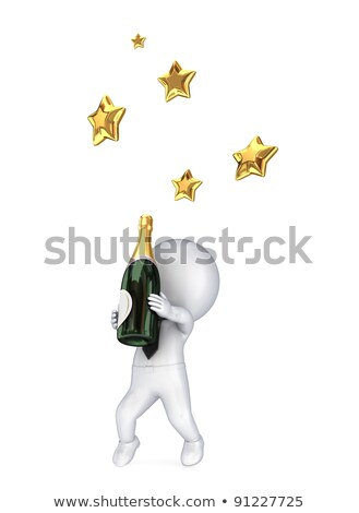 3d small people   new years greetings stock photo © anatolym