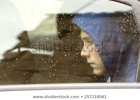 side of a young man worrying about cold weather Stock photo © feedough