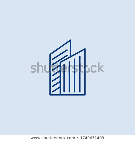 Blue bar building icons stock photo © SergeyT