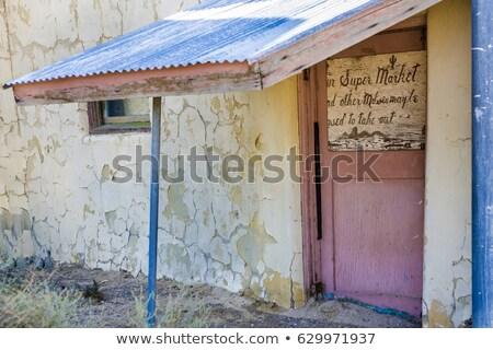 Starych budynku śmierci dolinie skrzyżowanie wydobycie Zdjęcia stock © meinzahn