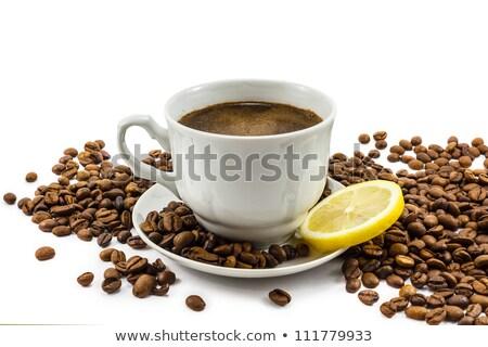 кофе корицей лимона изолированный белый кофе Сток-фото © oly5