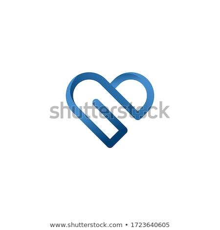 zöld · szív · mértani · forma · modern · szív · alak - stock fotó © hypnocreative
