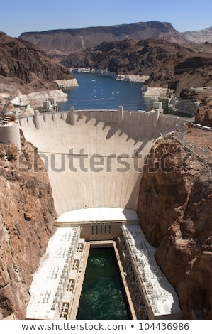 Stock photo: Hoover Dam taken from helicopter
