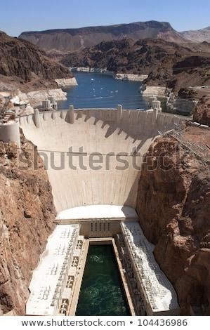 Hoover · Dam · helikopter · Las · Vegas · 2013 · napfény · tájkép - stock fotó © weltreisendertj