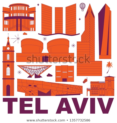 cartoon tel aviv stock photo © blamb