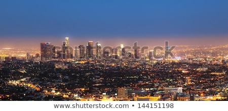 Los Angeles nuvens luz fundo verde azul Foto stock © meinzahn