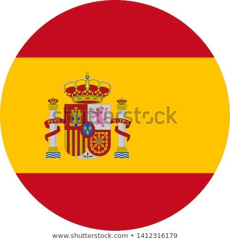 Foto d'archivio: Spagna · bandiera · icona · sport · design · vetro