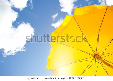 Esernyő nap elleni védelem narancs nap háttér Stock fotó © meinzahn