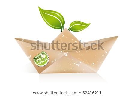 Papier origami bateau eco idée affaires Photo stock © Lota