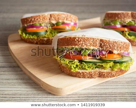 健康 サンドイッチ 孤立した 白 健康 ヒマワリ ストックフォト © natika