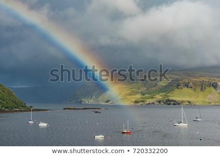 landscape at loch gairloch highlands scotland stock photo © phbcz