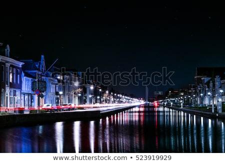 Típico casas Holanda ciudad canal centro de la ciudad Foto stock © lypnyk2