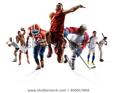 ヴィンテージ · アメリカン · サッカー · ボール · フィールド · フットボールの競技場 - ストックフォト © kali