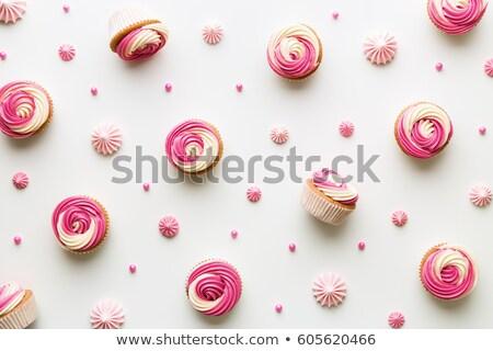 mazsola · minitorták · közelkép · reggeli · desszert · pékség - stock fotó © fanfo