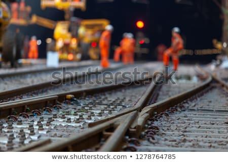 Demiryolu izlemek iki çim kentsel Retro Stok fotoğraf © Hochwander