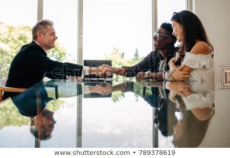 Сток-фото: агент · по · продаже · недвижимости · собственности · клиент · служба · женщину
