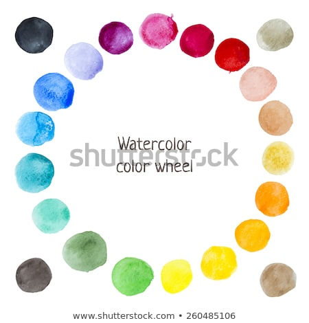 CMYK colors vector watercolor stains Stock photo © gladiolus