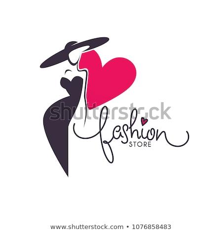 femme · chiffre · silhouette · décoratif · fleur · texture - photo stock © sharpner