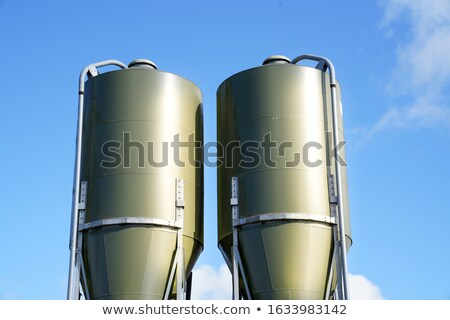 Metaal blauwe hemel voedsel Blauw industrie industriële Stockfoto © njnightsky