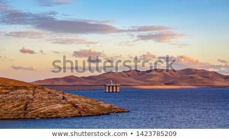 Zbiornik niski wody poziom wzgórza Zdjęcia stock © disorderly