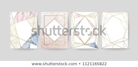 Gouden meetkundig ontwerpen kostbaar stenen illustratie Stockfoto © yurkina