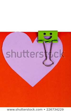 Papier hart roze witte liefde Stockfoto © GeniusKp