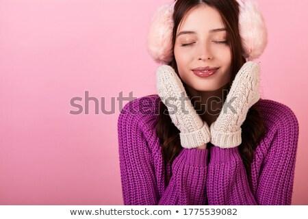 女性 手 ミトン 魅力的な 小さな ストックフォト © Kor