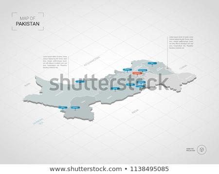 Kaart Pakistan verschillend symbolen witte reizen Stockfoto © mayboro1964
