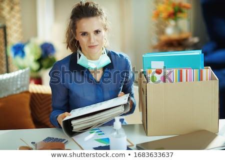 синий блузка красивой молодые блондинка Сток-фото © disorderly