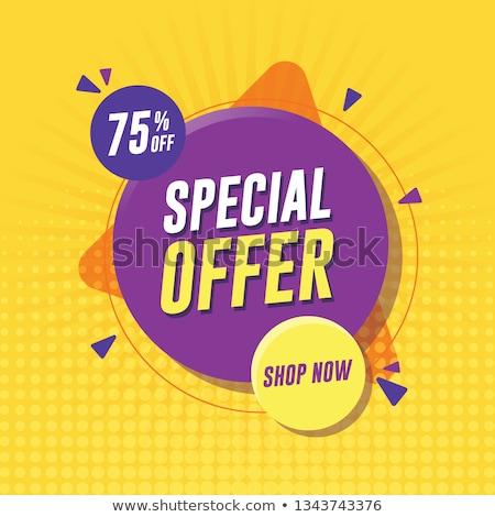 Special Offer Purple Vector Icon Design Stock photo © rizwanali3d