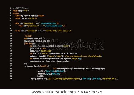 Kód absztrakt minta internet háló fekete Stock fotó © timbrk