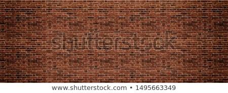 öreg piros fal építőipar minta textúra Stock fotó © stevanovicigor