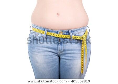 Egészséges életmód nő testrész mér derék lány Stock fotó © caimacanul