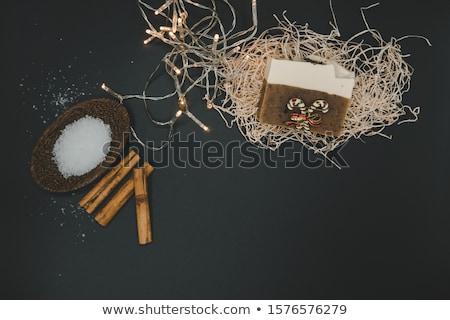 Сток-фото: Soap And Salt