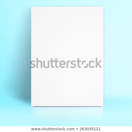 felfelé · fehér · tiszta · poszter · szoba · fapadló - stock fotó © stevanovicigor