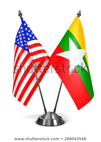 usa and myanmar   miniature flags stock photo © tashatuvango