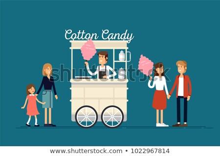 girl sells cotton candy Stock photo © adrenalina