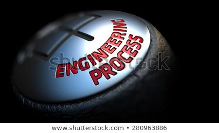 gear stick with red text engineering process stock photo © tashatuvango
