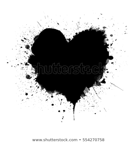 Splatter hart vintage valentijnsdag kaart exemplaar ruimte Stockfoto © Yaruta