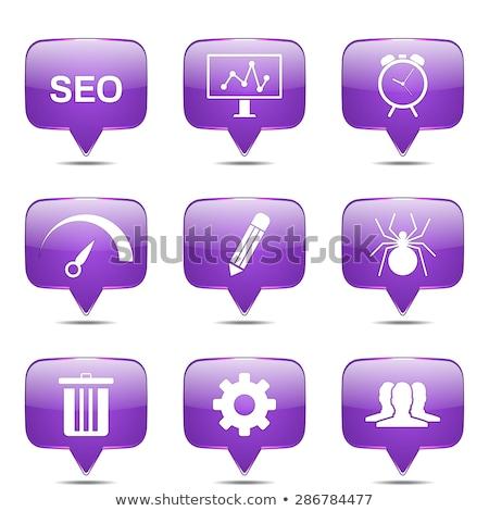seo · internet · teken · vierkante · vector · violet - stockfoto © rizwanali3d
