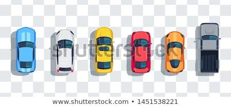 Réaliste vecteur graphique illustration voiture de course avec prudence Photo stock © feabornset