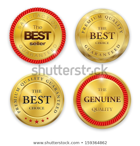 Shield Sign golden Vector Icon Design stock photo © rizwanali3d