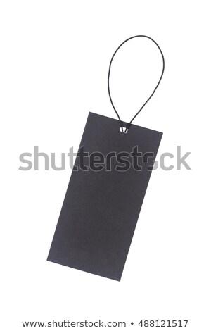Fekete címke címke izolált fehér ajándék Stock fotó © tetkoren