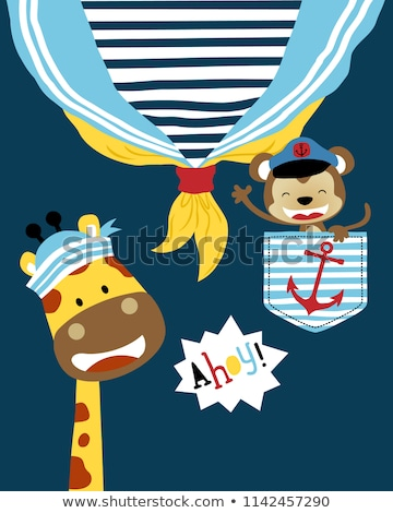 Funny sailor with cap and shirt Stock photo © Elnur