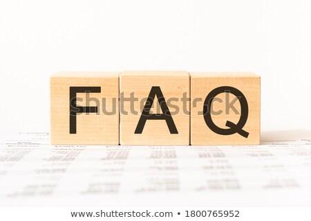 Faq palavra isolado cartas conselho escolas Foto stock © fuzzbones0