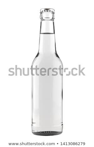 Vidrio botella sosa agua aislado blanco Foto stock © shutswis