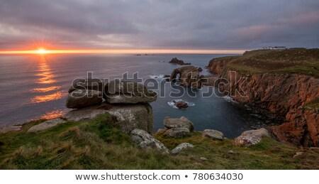 Einde grond vuurtoren punt zuidelijk tip Stockfoto © wildnerdpix